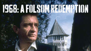 Photo of Johnny Cash at Folsom Prison for 1968: A Folsom Redemption Exhibit